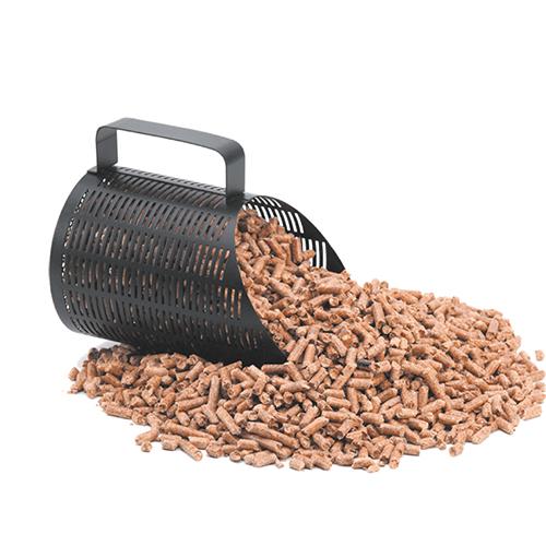 pelle à pellets